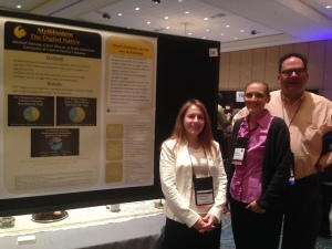 My colleagues and me with our poster. (L to R) Kelly Robinson, Carrie Moran (me), and Michael Furlong.